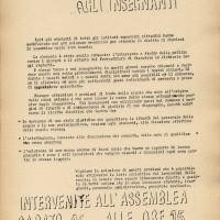 Volantino del sindacato Cgil-Scuola, sd., Archivio Istituto storico di Modena