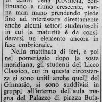 Manifestazioni  studentesche a Cesena (Il Resto del Carlino, 20 novembre 1968)