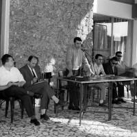 Sciopero degli operai della Fiat per il rinnovo del contratto presso il Mercato bestiame a Modena, luglio-settembre 1969, Archivio Ufficio stampa del Comune di Modena, Fondazione fotografia - Fondazione Modena Arti Visive