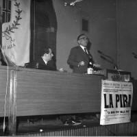 3.3.1967: Antonio Zavoli e Giorgio La Pira intervengono presso la sala dell'Arengo, Archivio ISRIC Rimini