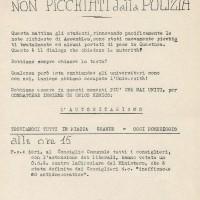Volantino per incontro degli studenti, 29 novembre 1968, Archivio Istituto storico di Modena