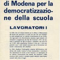 Volantino della CGIL di Modena. Archivio Istituto storico di Modena