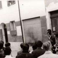 Via S. Anna, attentato alla sede di Lotta continua 1971. Fondo Fotografico M. Minisci.