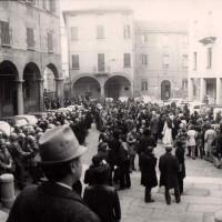 Manifestazione davanti al carcere di san Giuovanni in Monte
