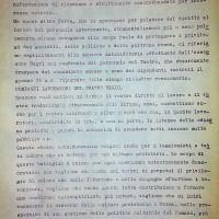 """Volantino del """"comitato operai e studenti"""" che invita alla contestazione del 26 dicembre 1968. Parma, dicembre 1968. Archivio Centro studi movimenti."""