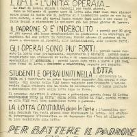 Tenda della solidarietà, volantino, 1° agosto 1969, Archivio Istituto storico di Modena