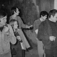 Gian Maria Volontè in visita al cinema Pedrazzoli
