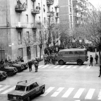 La polizia fronteggia gli studenti in sciopero, Modena, 15 novembre 1968, Archivio Istituto storico di Modena