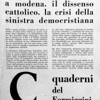 """""""Quaderni del Formiggini"""", Archivio Istituto storico di Modena"""