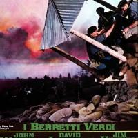 """Locandina italiana del film """"Berretti Verdi""""."""
