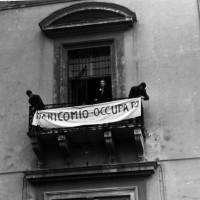 L'occupazione dell'Ospedale psichiatrico di Colorno. 2 febbraio 1969. Foto di Karin Munck.