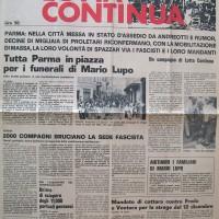 """Prima pagina di """"Lotta continua"""" del 29 agosto 1972. Archivio del Centro studi movimenti."""