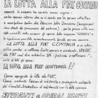 Tenda della solidarietà, volantino, 26 luglio 1969, Archivio Istituto storico di Modena