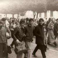 Manifestazione studentesca, fondo fotografico M. Minisci, Forlì.