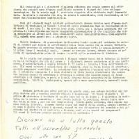 Volantino del Movimento studentesco, 3 febbraio 1969, Archivio Istituto storico di Modena