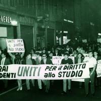 Operai e studenti per il diritto allo studio, manifestazione, Modena 1969, Archivio Istituto storico di Modena