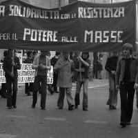 Manifestazione contro il colpo di stato in Cile. Fondo Maurizio Benzi