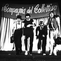 """Scena dello spettacolo """"Le cinque piaghe della santa repubblica"""". Parma, 1972. Archivio Centro studi movimenti."""