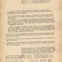 Volantino del sindacato Cgil-Scuola [novembre 1968], Archivio Istituto storico di Modena