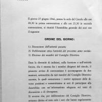 Convocazione all'Assemblea generale dei soci del Circolo Formiggini, 1966, Archivio Istituto storico di Modena