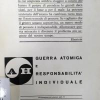 1966, Anti - H - Guerra atomica e responsabilità individuale, opuscolo conservato presso la Biblioteca comunale \