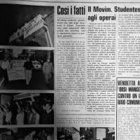 Cronaca dell_ occupazione del Salone Comunale,  25 settembre 1968 (Il Forlivese)