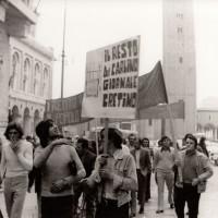 Forlì, manifestazione di Lotta continua, Fondo fotografico M. minisci, 1971.