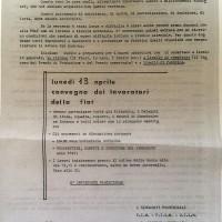 Volantino dei sindacati provinciali, 7 aprile 1970, Archivio Istituto storico di Modena