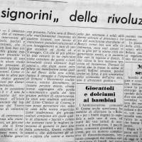Il Resto del Carlino su contestazione al Teatro Bonci, 5 gennaio 1969