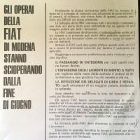 Volantino dei sindacati provinciali, Archivio Istituto storico di Modena