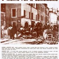 Manifesto di Lotta continua per la morte di Mariano Lupo, 26 agosto 1972. Archivio Centro studi movimenti.