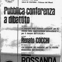 Volantino di una conferenza presso la Sala della cultura, 17 febbraio 1967, Archivio Istituto storico di Modena
