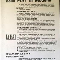 Volantino di solidarietà dai sindacati provinciali, Archivio Istituto storico di Modena
