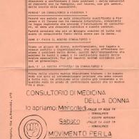 """Archivio privato, """"Che cos'è un consultorio?"""", s.d. Volantino ciclostilato"""