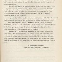Documento prodotto durante l'assemblea generale degli studenti in occupazione al Fermi, marzo 1968, Archivio Istituto storico di Modena