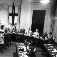 Consiglio comunale con sindacalisti, 9 aprile 1969, Archivio Botti e Pincelli, Fondazione fotografia - Fondazione Modena Arti Visive