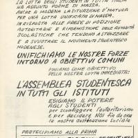 Volantino che annuncia l'assemblea generale [7 novembre 1968], Archivio Istituto storico di Modena