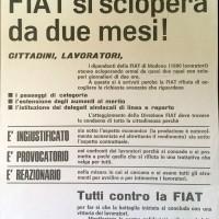 Volantino dei sindacati metalmeccanici, 1° settembre 1969, Archivio Istituto storico di Modena