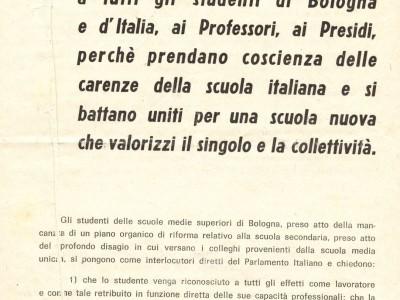 Non è che l'inizio: tracce del 1968 negli archivi bolognesi