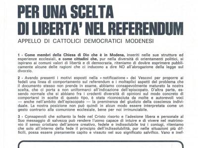 Fondo Cattolici democratici modenesi
