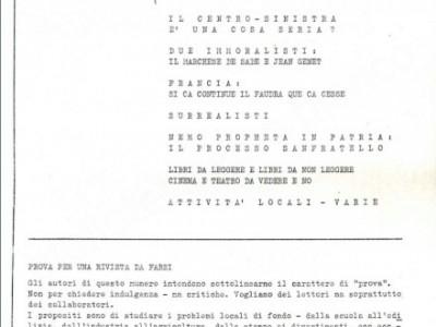 """Prima sede della rivista """"Quaderni Piacentini"""""""