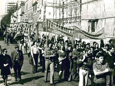 Prima sede del Movimento Studentesco, Via Borghetto angolo Via San Rocchino