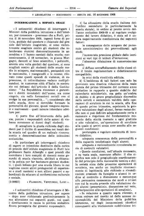 Piazza g b morgagni forl for Atti parlamentari camera